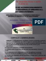 Reglamento de Acondicionamiento Territorial y Desarrollo Urbano d
