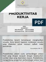 Produktivitas Kerja Fix