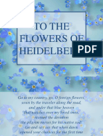 To the Flowers of Heidelberg