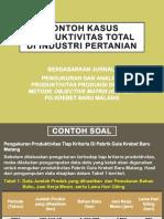 Contoh Kasus Produktivitas Total Di Industri Pertanian