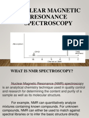 Nuclear Magnetic Resonance Spectroscopy Nuclear Magnetic