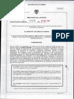 1723-14. Resolución Archipiélagos y Morrosquillo. La Libertad