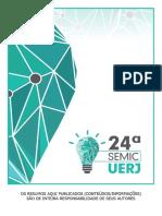 Livro de resumos da 24ª  SEMIC - UERJ - 2015