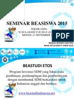 Seminar Beasiswa Bem FT 2015