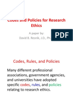 2. Codes and Policies for Research Ethics