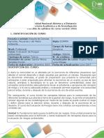 Syllabus Evaluación de Riesgos Ambientales