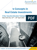 Core Concepts in Real Estate Investment - NYC - April 2016