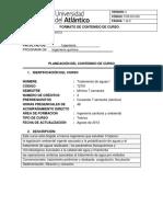 Carta Descriptiva Tratamiento de Aguas u