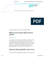 What's all this about Mental Bandwidth?! | Handy Blog