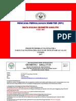 # RPS Geometri Analitik P-Mat-2017