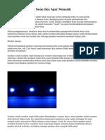 Tips Menampilkan Neon Box Agar Menarik