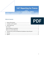Vat Reporting for France Topical Essay