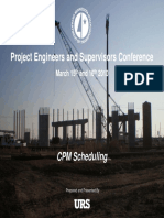CPM Schedule Guidelines