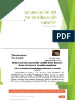 LA REMUNERACIÓN DEL DOCENTE DE EDUCACIÓN SUPERIOR -  2017