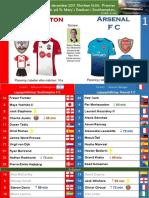 Premier League 171210 round 16 Southampton - Arsenal 1-1