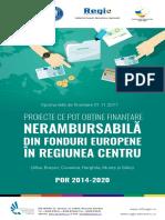 Proiecte Ce Pot Obține Finanțare Nerambursabilă in Regiunea Centru