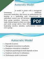 Autocratic Leadership Presentation