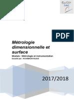 Métrologie Dimensionnelle Et Surface
