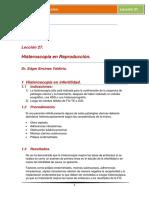 Lección 27. Histeroscopía en Reproduccion.