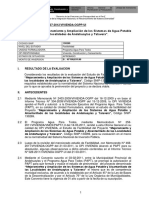 PIP informe Tecnico Mejoramiento y Ampliación de Los Sistemas de Agua Potable
