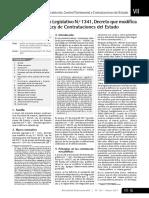 Análisis Del Decreto Legislativo N.º 1341, Decreto Que Modifica La Ley 30225, Ley de Contrataciones Del Estado