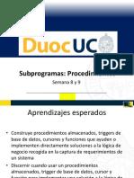 Semana 8 y 9 Subprogramas Procedimientos POF030