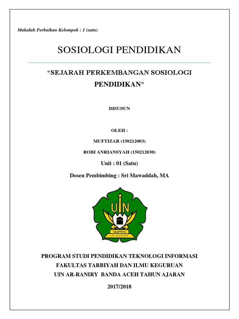 Makalah Sosiologi Pendidikan