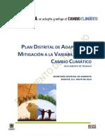 Documento de Trabajo Plan Distrital Adaptacion Cambio Climatico
