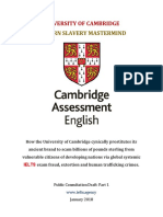 University of Cambridge Modern Day Slavery Mastermind