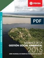 Balance de Gestion de Social y Ambiental de PDVSA 2015