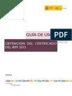 Guia Uso Obtencion Certificados IRPF 2015