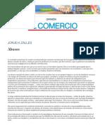 Abusos _ El Comercio