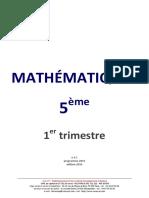 5eme Mathematiques Cours