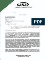 OAITA Public Response to HUD's ANPR on RESPA Section 8