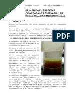 Laboratorio 6 Ataque Químico en Probetas Metalográficas