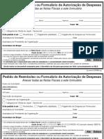 Pedido de Reembolso Ou Formulário de Autorização de Despesas v2014 (Editavel) Sudbr.org