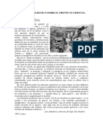 Texto Historiográfico Sobre El Frente Occidental. Actividades.