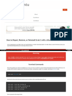 How to Repair Restore Reinstall Grub 2 With a Ubuntu Live CD