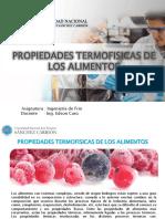 Propiedades Termofisicas en Los Alimentos