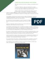 Resumen de La Obra Matalache de Enrique Lopez Albujar