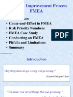 Fmea Overview and Roadmap