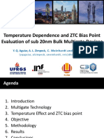 Temperature Dependence and ZTC Bias Point Evaluation of sub 20nm bulk Multigate Devices