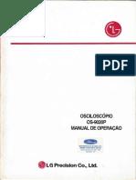 Manual de Operação Osciloscópio OS-9020P