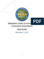 mseca style guide
