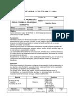 Practica tabla periodica, propiedades fisicas y quimicas