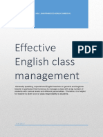 Effective English Class Management