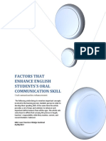 Factors That Enhance English Students Oral Skill