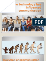 How Technology Has Influenced Communication