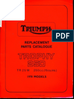 Triumph 99-0906 1970 Tr25w Trophy 250 x