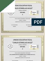 Diplomas 1 Quimestre 2017 2018